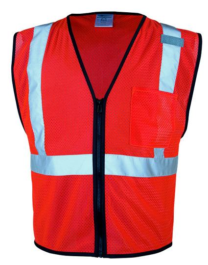 1 Pocket Zipper Mesh Vests