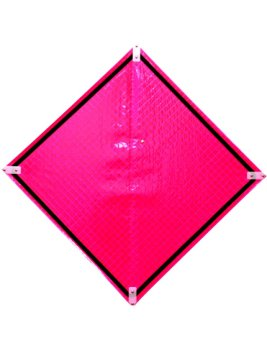 """48"""" Reflective Pink Emergency Roll-Up Signs"""