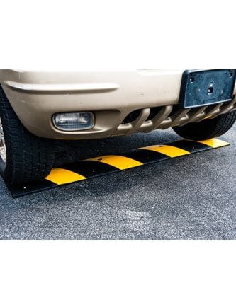 4' Heavy-Duty Recycled Rubber Speed Bump