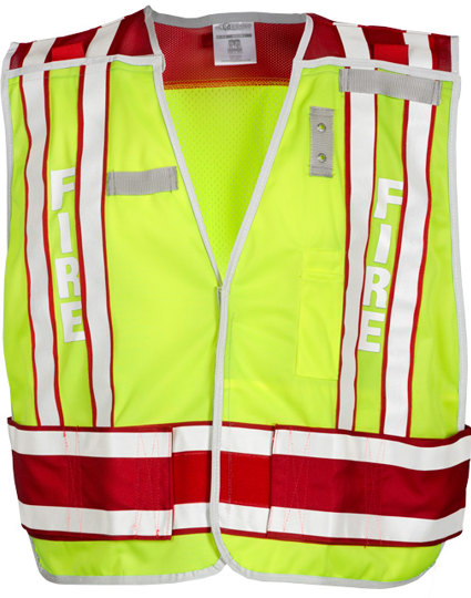 Lime & Red Public Safety Vest - FIRE