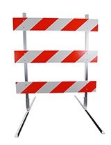 6 Economy Solid Plastic Parking Block Traffic Safety Store