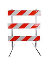 6' Type 3 Barricade with Plastic Rails