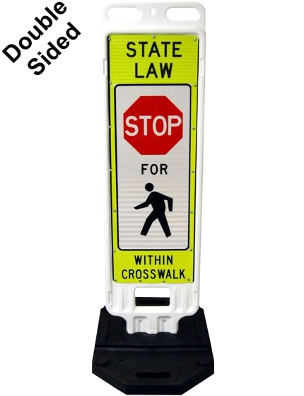 "36"" x 12"" Crosswalk Barricade Sign"
