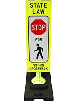 "36"" x 12"" Reboundable Crosswalk Sign"