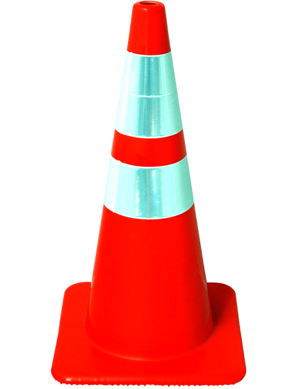 "28"" Traffic Cones - Solid Orange 7 lb"