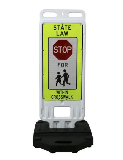 "24"" x 12"" Crosswalk Barricade Sign"