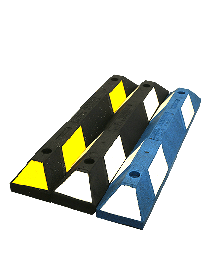 3' Recycled Rubber Parking Block with Hardware