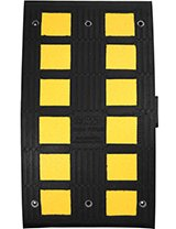 Heavy Duty Rubber Speed Hump Middle Section