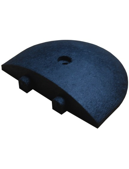 "9"" Rounded End Cap for Rubber Speed Bump"