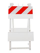 'One-Piece' Molded Folding Barricade