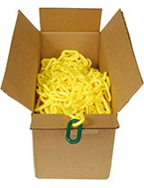 "100' Box of Plastic Chain (2"" Links)"