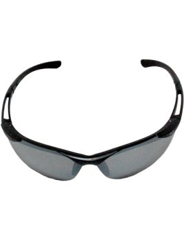 Matte Black Mirror Safety Sunglasses