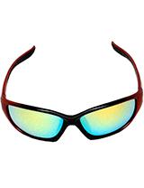 Black & Red Gold Lens Safety Glasses