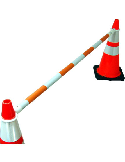 6' to 10' Expandable 'Workzone' Orange and White Cone Bar