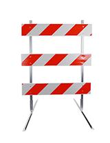 4' Type 3 Barricade with Plastic Rails