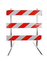 8' Type 3 Barricade with Plastic Rails