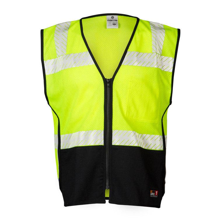 Flame Resistant Black Bottom Vest