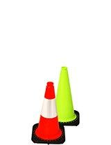 "18"" Traffic Cones - Black Base"