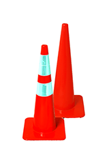 """28"""" SlimLine Traffic Cones - Solid Orange"""