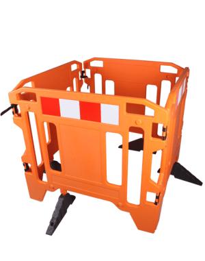 Work Zone Manhole Safety Fence