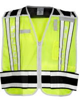 Lime & Black Public Safety Vest - POLICE