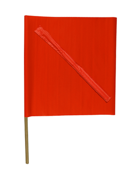 "24"" Construction Flags w/ No Foul Batten"