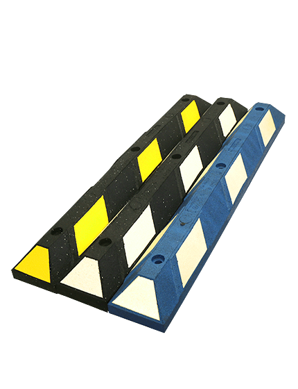 4' Recycled Rubber Parking Block with Hardware