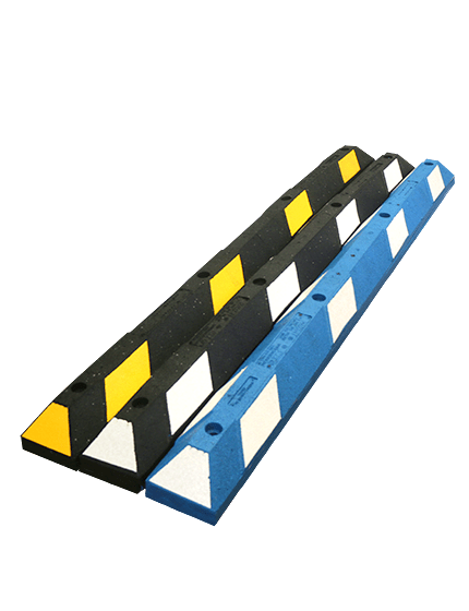 6' Recycled Rubber Parking Block with Hardware