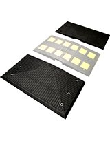Heavy Duty Rubber Speed Hump End Kit (two pieces)