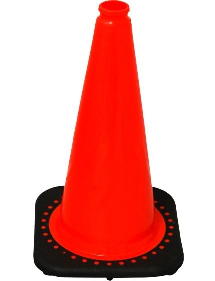 """Orange 18"""" Traffic Cone with Black Base image"""