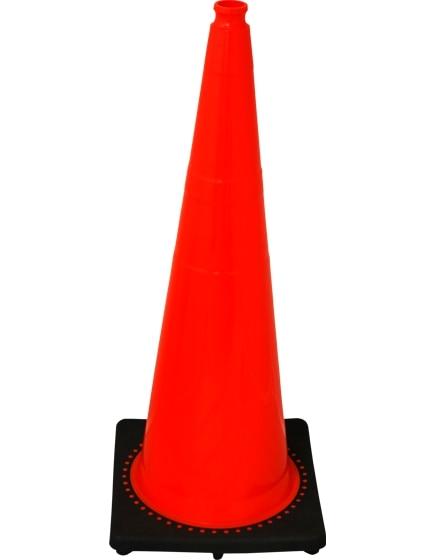 "Orange 36"" 12.0 Lb. Traffic Cone with Black Base image"