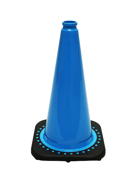"""Light Blue 18"""" Traffic Cone with Black Base image"""