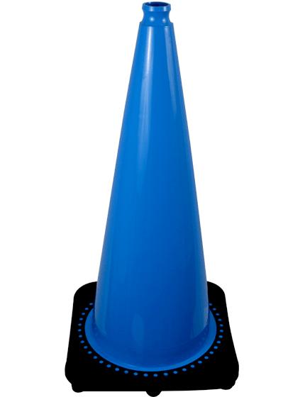 "28"" Light Blue Traffic Cone image"