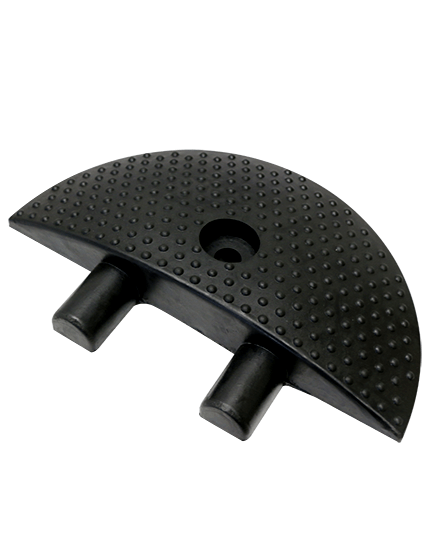 """6"""" Rounded End Cap for Economy Rubber Speed Bumps"""