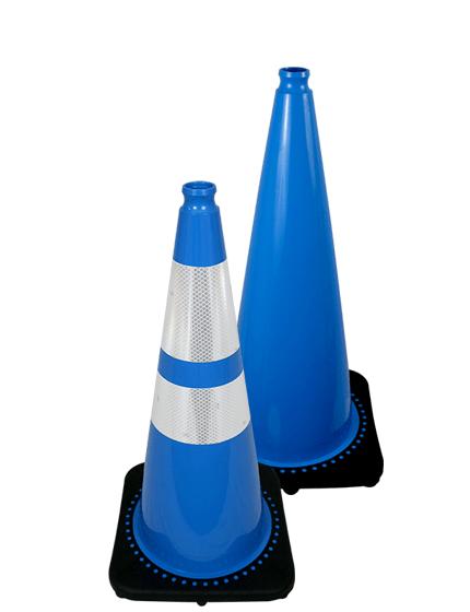 "28"" Light Blue Traffic Cone"