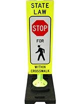 "36"" x 12"" Reboundable Crosswalk Sign"