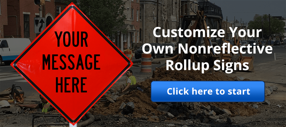 Customize roll-up construction signs