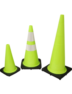 Lime Green Safety Cones