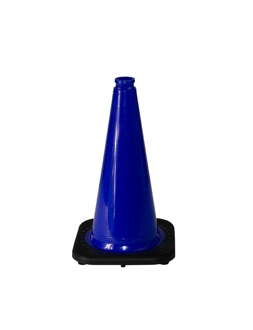 "Dark Blue 18"" Traffic Cone wit"