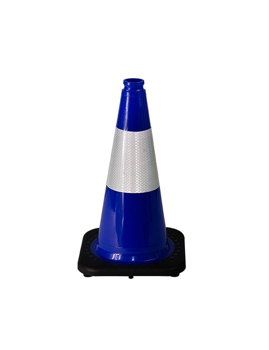 "Dark Blue 18"" Traffic Cone wit"
