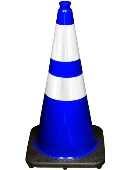 "28"" Blue Traffic Cones +Add Tw"
