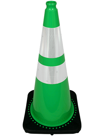 "28"" Green Traffic Cones +Add T"
