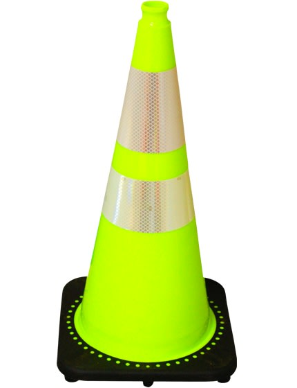 "Lime 28"" Traffic Cone with Bla"