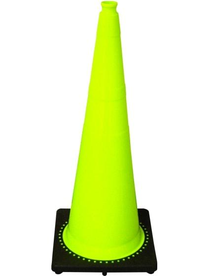 """Lime 36"""" 10 Lb. Traffic Cone w"""