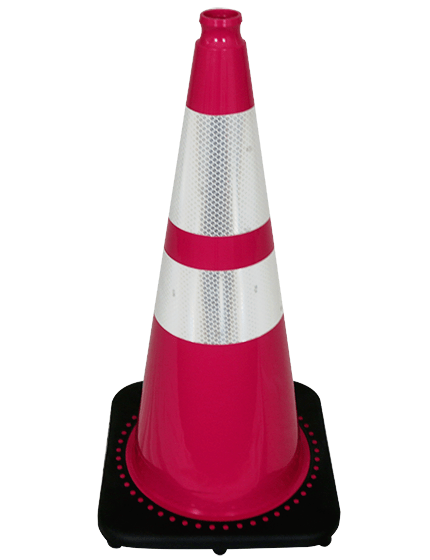 "28"" Pink Traffic Cones +Add Tw"