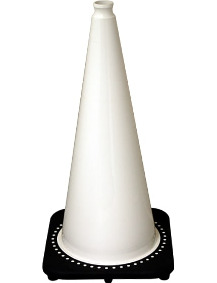 "28"" White Traffic Cones"