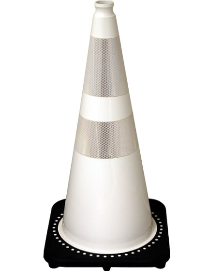 "28"" White Traffic Cones +Add T"
