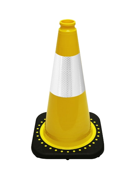"Yellow 18"" Traffic Cone with B"