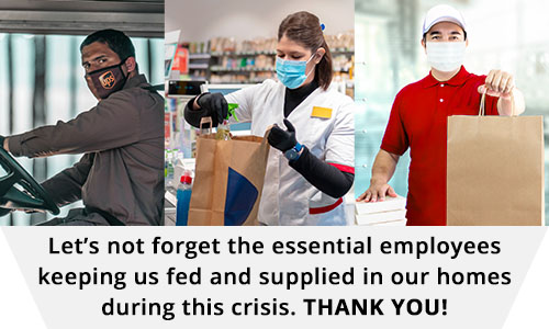 We Thank all Essential Workers