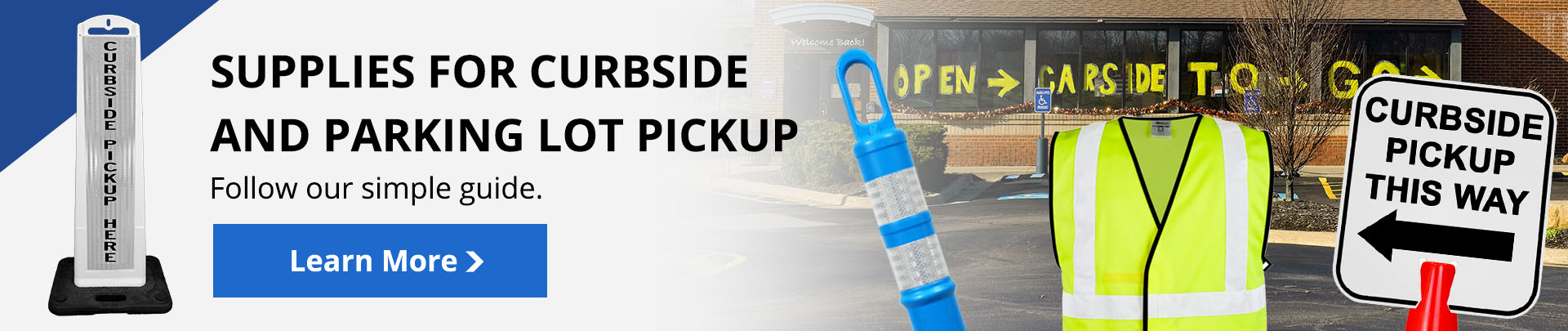 Exactly what restaurants need for curbside or parking lot pickup